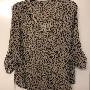 Sheer Cheetah Top